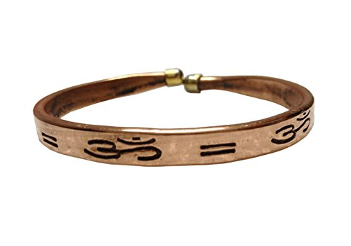 Pure Copper Kada for Men & Women with OM symbol
