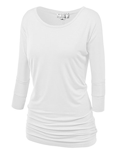 Match Damen 3/4 aermel T-Shirt #140 (140 Weiss,XXX-Large) (T-shirt Xxx-large Neue)