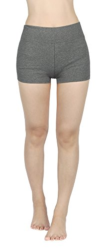 4HOW Joggings Damen Hosen Sport Shorts Legging Grau Kurze Strumpfhose Jogginghosen Shorts M -