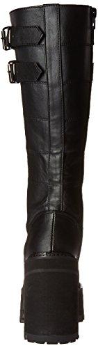 Demonia ASSAULT-202 Blk Vegan Leather