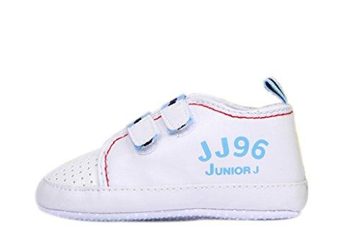 Bigood Chaussure Bébé Enfant Sport Respirant Antidérapant Velcro Bleu