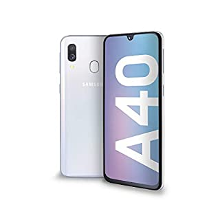 "Samsung Galaxy A40 Display 5.9"", 64 GB Espandibili, RAM 4 GB, Batteria 3100 mAh, 4G, Dual SIM Smartphone, Android 9 Pie, (2019) [Versione Italiana], White (B07PTMPKGD) 