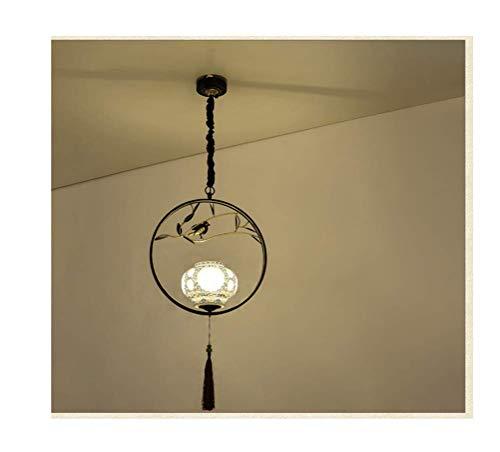 C-LT Pendelleuchten Leuchten Deckenleuchten Beleuchtung Loft Scheune Pendelleuchten Lichter Land Retro Kreativ Restaurant Bar Tisch Kronleuchter Antikes Holz Mattglas Multi-Head Kronleuchter, Farb -