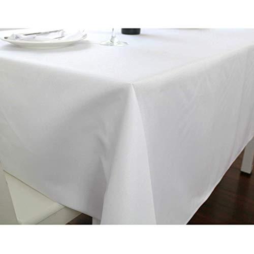 BATSDCB Leuchtet weiß Waschbar Polyester Tisch-Abdeckung, Rechteck Dekoration Tischdecken-Weiß...