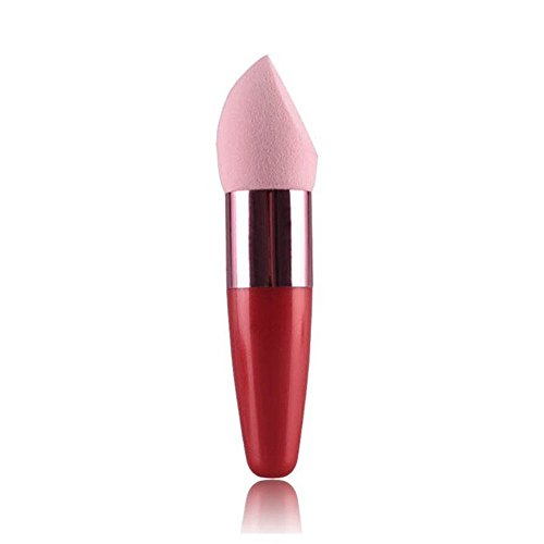 kosmetische flüssige Creme Foundation Concealer Kürbis mit Griff Sponge Lollipop Brush (Rosa) ()