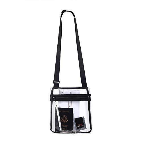 Bags for Less Deluxe Umhängetasche, mit verstellbarem Schultergurt, transparent