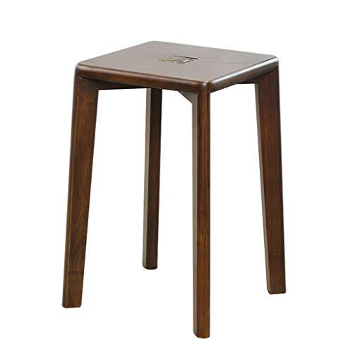 Massiver Hocker Holz Einfacher Hocker Kreisförmiger Stabiler Reifen Für Die Bar Café Family Tischhöhe H:48Cm,A - Leder-falt-hocker