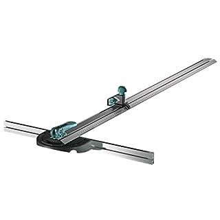 Wolfcraft 4008000 T-Schiene mit Parallelschneider, Silber