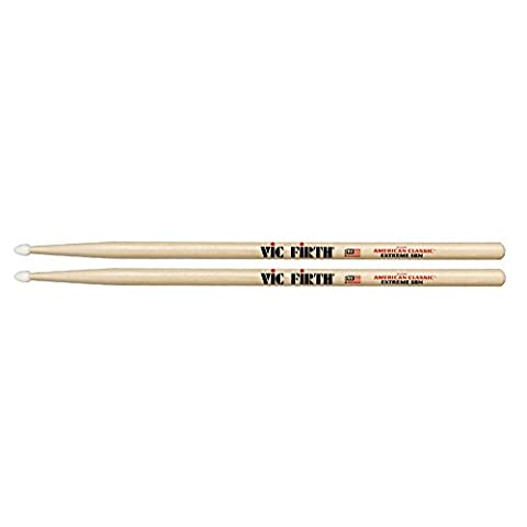 Vic Firth Extreme Drumsticks 5B (Hickory, Nylonkopf) (Hickory 5a Nylon Tip)