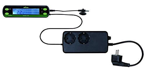TUDIO Thermostat, Digitaler Temperaturregler mit fühler, Heizen & Kühlen Temperaturschalter,2circuits