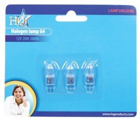 PACK OF 3 HQ - 20W G4 HALOGEN LAMP BULBS