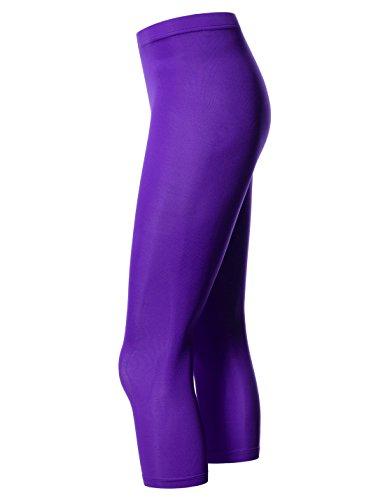 Nearkin Damen Leggings, Durchgehend NKNKW7L-PURPLE
