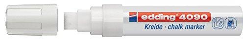edding 4090 Kreidemarker - Farbe: Weiß - Kreidestift / Fenstermarker - Beschriften von Fenster, Tafel und Glas - Feucht abwischbar