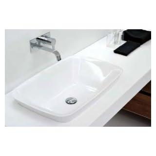 Antonio Lupi countertop basins Bulbo on top slot in rectangular sink BULBO