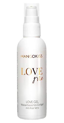 MangoKiss LOVE ME Gleitgel auf Wasserbasis - Gleitmittel mit Aloe Vera - vegan, kondomgeeignet, hautpflegend, ergiebig, für mehr Spaß beim Sex