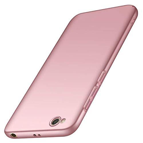 AOBOK Funda Xiaomi Redmi GO, Ultra Slim Anti-Rasguño y Resistente Huellas Dactilares Totalmente Protectora Caso Duro Carcasa Case para Xiaomi Redmi GO Smartphone, Oro Rosa