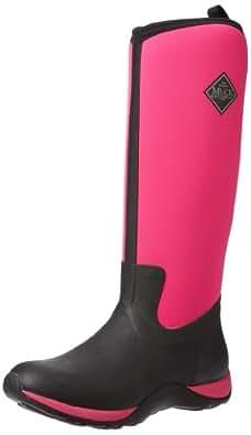 Muck Boots Arctic Adventure, Bottes Femme - Noir (black/hot Pink) - 36 EU (3 UK)