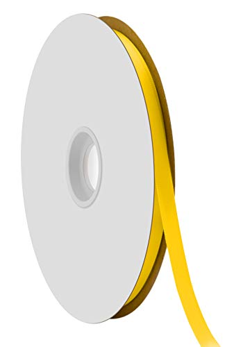 Offray Single Face Satin Craft Ribbon, 3/8-Inch by 100-Yard Spool, Daffodil by Offray -