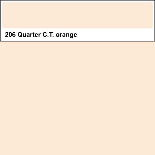 Lee Farbfolie 206 Quarter C.T. Orange 25cm x 123cm -