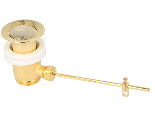 tecuro Exzenter Ablaufgarnitur vergoldet für Waschtisch