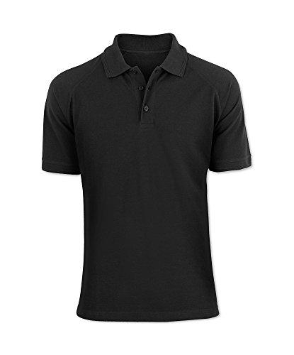 U&S Clothing Herren Poloshirt Schwarz