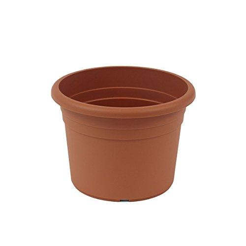 greemotion Pot de fleurs rond en plastique Ø 35cm 12L - Pot pour plantes extérieures et intérieures - Pot de jardin couleur terre cu