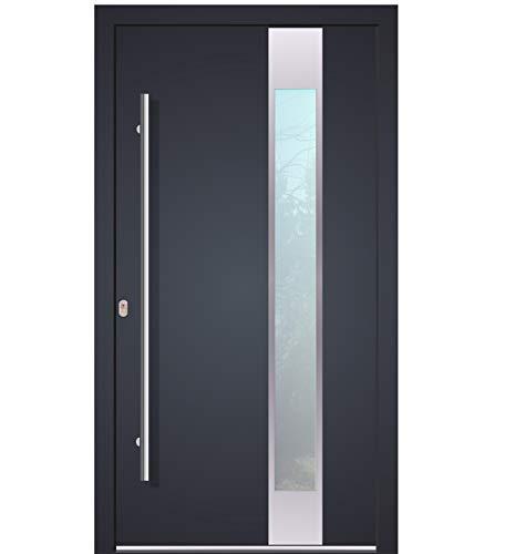Haustür Welthaus WH94 RC2 Premiumtür Aluminium mit Kunststoff LA150 Tür nach mass gemacht Farbe aussen anthrazit 7016 Innen weiß außengriff BGR1400 innendrucker M45 Zylinder 5 Schlüßel