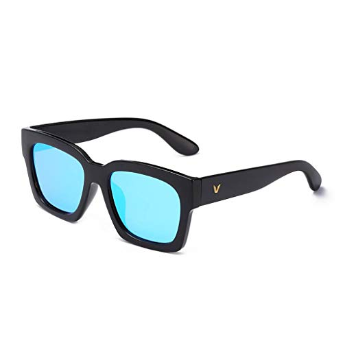 KISlink Sonnenbrille Herren Sonnenbrille New Tide Driving Polarized Round Face Langes Gesicht Persönlichkeit Brille Sonnenbrille Herren Brillen (Farbe: A)