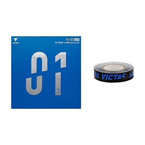 VICTAS Belag V > 01 Stiff + 1x Kantenband, 2,0 mm, rot
