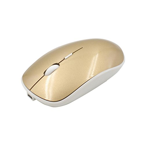 Maus Wireless leise, Dorame PC Notebook leise der Maus-Spiel-USB-Glühlampe Photoelektrischer angeschlossen leise 11.5cm gold