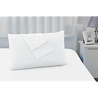Sonia Moer Set of 2 Non Iron Soft Microfibre Pillowcases (White)