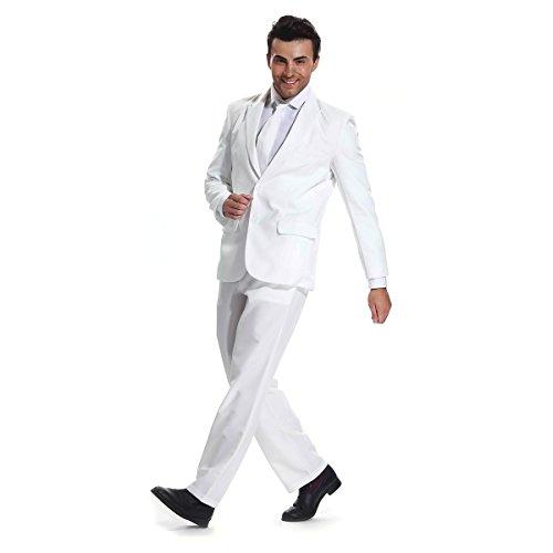 Modisch Herren Party Anzug Weihnachten Kostüme Festliche Anzüge Party Suits in Normalem Schnitt von YOU LOOK UGLY TODAY Weiß
