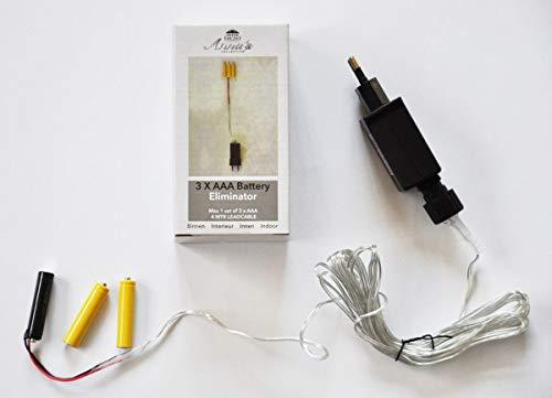 Coen Bakker Batterie Netzteil Adapter 3X AAA Micro Batterie 4,5V Wandler 4m Kabel Netzteil -
