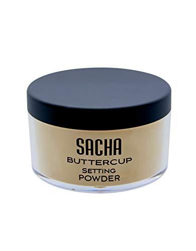 Sacha Buttercup Powder sans flashback de cendre. Comble les ridules, les pores et les rides. Matifiant absorbe l'huile et réduit la brillance. Pour les tons de peau moyens à foncés 1,25 oz