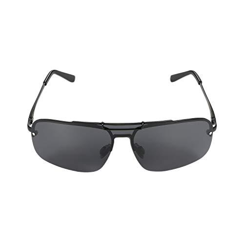 Aroncent Herren Sonnenbrille Halbmond Outdoor polarisiert UV-Schutz 400 Strahlenschutz Farbe wählbar Schwarz
