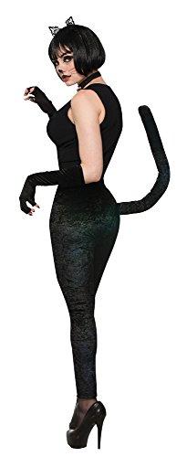 Forum Novelties Hängelampe Artikelnummer 78361Cat Leggings Kostüm, schwarz, UK Größe 10-14