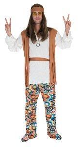60er Jahre Hippie Blumenkind Herren Kostüm (Blumenkind Kostüm Zubehör)