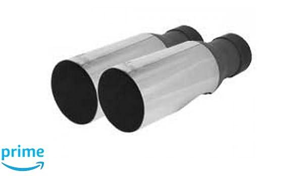 90 mm gerade mit Abgasf/ührung nach unten Remus 1003 05G 2 Diesel-Endrohre Durchmesser