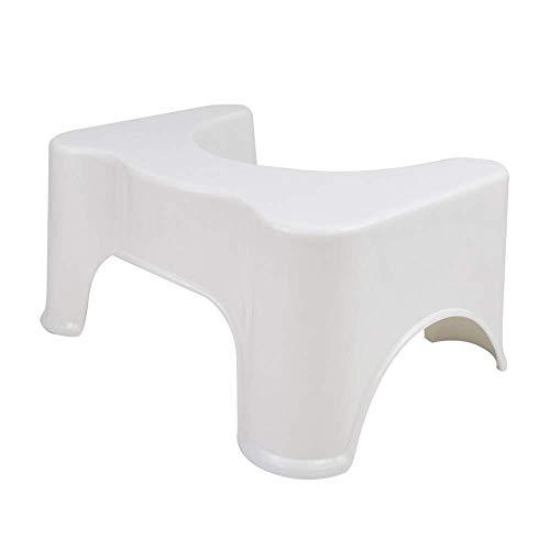 LOMOS Taburete para baño e Inodoro Vital en Blanco (44x32x21 cm)
