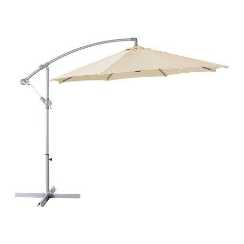 Empire elegante protezione uv ombrellone, con base–robusta e durevole (beige e grigio)