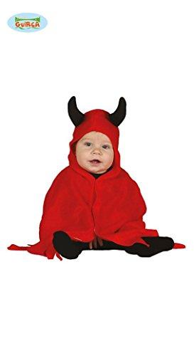 Baby Teufel - Kostüm für Kinder Karneval Fasching Devil rot Umhang Gr. 74 - 98, Größe:86/92 (Kinder Teufel Kostüme)