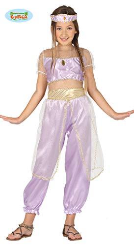 Prinzessin aus dem Orient - Kostüm für Mädchen Gr. 110 - 146, - Lila Und Gold Bauchtanz Kostüm