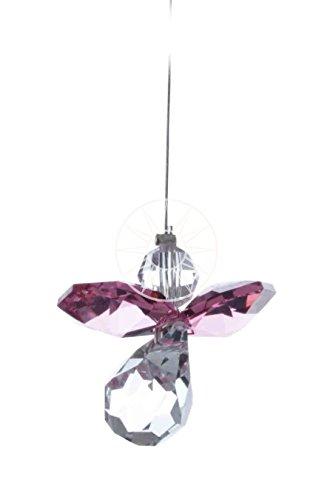 Galleria fotografica Swarovski Hanging Crystal Guardian Angel Suncatcher Rainbow Maker Deep rose