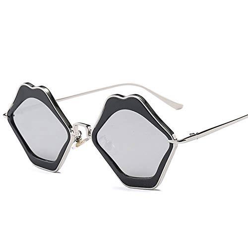 Thirteen Lippen Sonnenbrille, Anti-UV Geeignet Für Dekoration, Sonnenschutz, Reisen Im Freien, Einkaufen, Reisen, Fahren, Geeignet Für Eine Vielzahl Von Gesichtstypen. (Color : C)