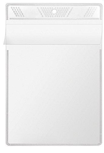 Veloflex 3306010 Sichttasche A6, Schutzhülle, Sichthülle, Aufhängehülle, zum Aufhängen, glasklar, 10 Stück