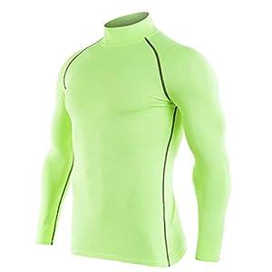 Herren Funktionsunterwäsche Sport Warm Unterhemd Shirt Thermo Stehkragen Unterwäsche Fitness T-Shirt Top