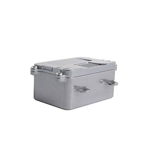 8Eninine Leichte langlebige Metall Empfänger Box Esc Box für 1/10 RC Crawler Car Axial Silber