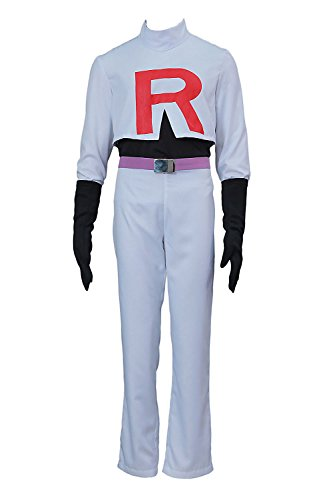 Chong Seng CHIUS Cosplay Costume Team Rocket James Outfit Version (James Pokemon Kostüm)