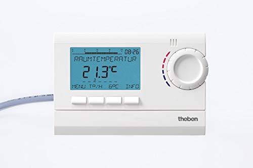 Theben 8120132 RAM 812 top2 (RAMSES) - digitales Uhrenthermostat mit Tages-, Wochen- und Ferienprogramm (RAMSES 812 top2) - 4-draht-thermostat