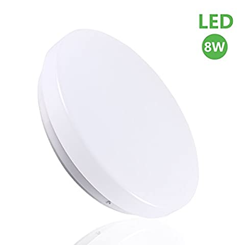 B-right 8W 8.5-inch LED Ceiling Mount Lights, 3000K(Warm White), 180 Degree Beam Angle, 40W Incandescent Equivalent, Round Flush Mount Lighting, Ceiling Lighting for Living Room, Bedroom, Dining Rooms[Energy Class A